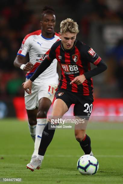 David Brooks of Bournemouth during the Premier League match between AFC Bournemouth and Crystal Palace at Vitality Stadium on October 1 2018 in...