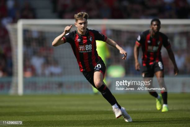 David Brooks of Bournemouth during the Premier League match between AFC Bournemouth and Fulham FC at Vitality Stadium on April 20 2019 in Bournemouth...