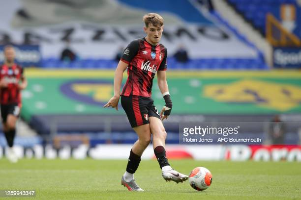 David Brooks of Bournemouth during the Premier League match between Everton FC and AFC Bournemouth at Goodison Park on July 26 2020 in Liverpool...