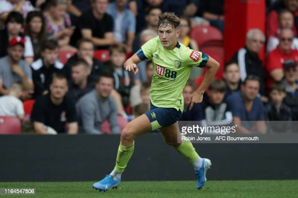 David Brooks of Bournemouth during the Pre-Season Friendly match between Brentford and AFC Bournemouth at Griffin Park on July 27, 2019 in Brentford,...