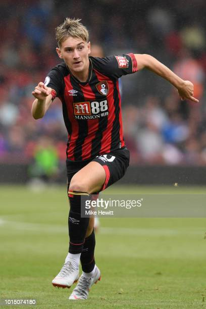 David Brooks of Bournemouth in action during the Premier League match between AFC Bournemouth and Cardiff City at Vitality Stadium on August 11 2018...