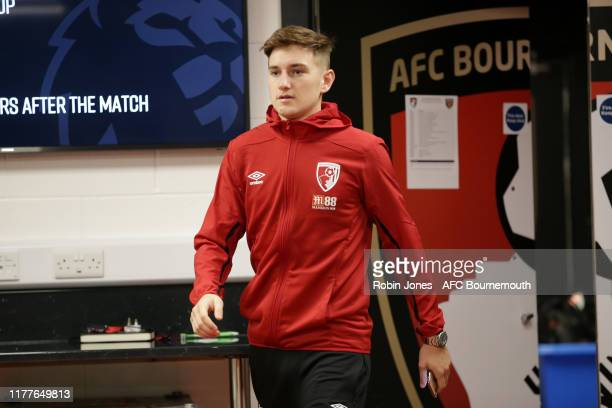 David Brooks of Bournemouth in the home dressing room before the Premier League match between AFC Bournemouth and West Ham United at Vitality Stadium...