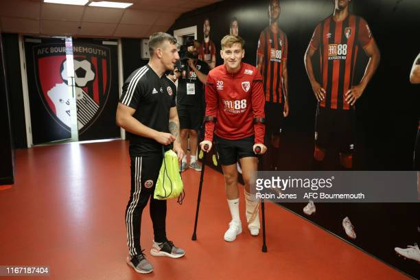 David Brooks of Bournemouth in the tunnel before the Premier League match between AFC Bournemouth and Sheffield United at Vitality Stadium on August...