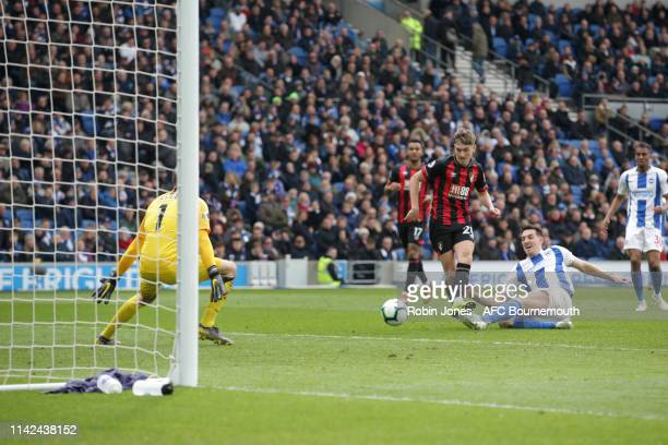 David Brooks of Bournemouth scores a goal to make it 30 during the Premier League match between Brighton Hove Albion and AFC Bournemouth at American...