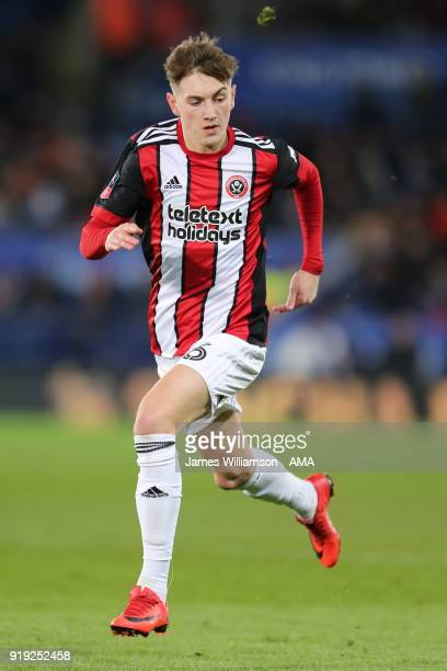 David Brooks of Sheffield United during the Emirates FA Cup Fifth Round match between Leicester City and Sheffield United at The King Power Stadium...