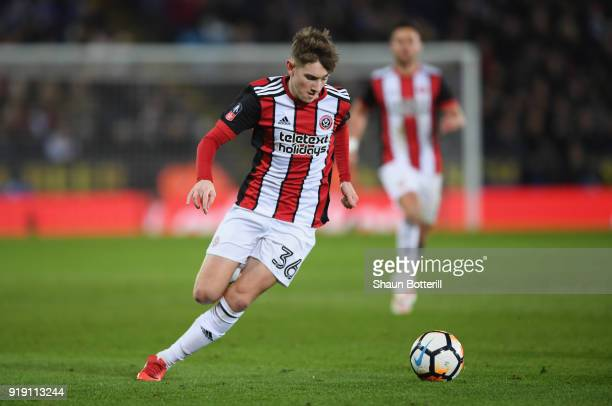 David Brooks of Sheffield United runs with the ball during the The Emirates FA Cup Fifth Round between Leicester City and Sheffield United at The...