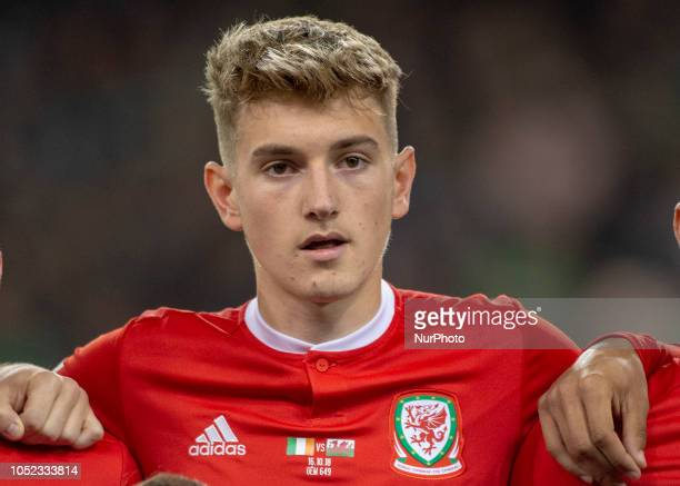 David Brooks of Wales during the UEFA Nations League B match between Republic of Ireland and Wales at Aviva Stadium in Dublin Ireland on October 16...