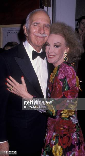 David Brown and Helen Gurley Brown attend Night of 100 Stars Gala on October 29, 1989 at the Plaza Hotel in New York City.