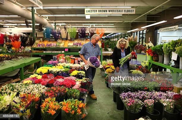 David Brown and his wife Ann own Chester Brown Wholesale Florists inside the Boston Flower Exchange