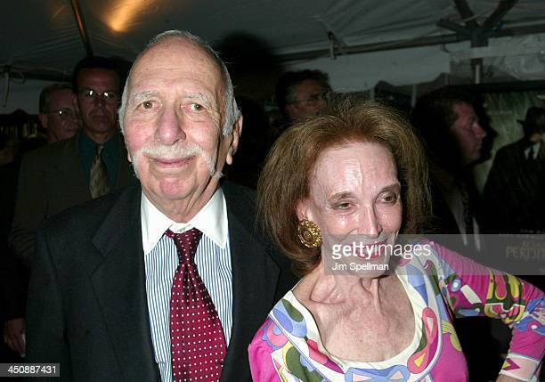 David Brown and wife Helen Gurley Brown during Road to Perdition New York Premiere at Ziegfeld Theatre in New York City New York United States