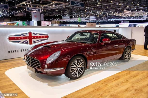 David Brown Speedback GT is displayed during the second press day at the 89th Geneva International Motor Show on March 6, 2019 in Geneva, Switzerland.