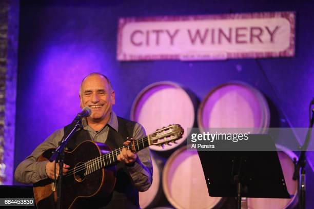David Broza performs at the 17th Annual Downtown Seder at City Winery on April 3 2017 in New York City