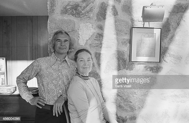 David Brubeck with wife Lola posing for a portrait on January 15, 1974 in Norwalk, Connecticut.
