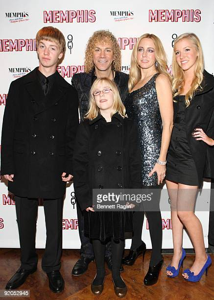 David Bryan and family attend the opening night party for 'Memphis' on Broadway at Hard Rock Cafe Times Square on October 19 2009 in New York City