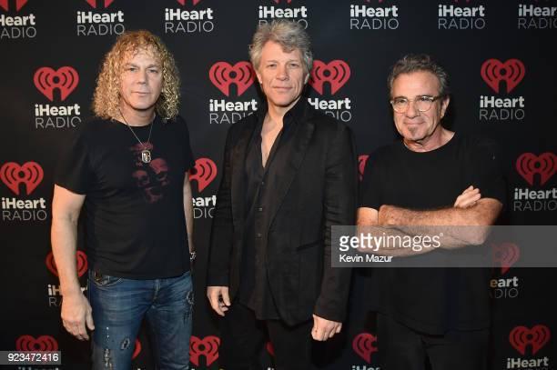 David Bryan Jon Bon Jovi and Tico Torres of Bon Jovi attend iHeartRadio ICONS With Bon Jovi Presented By AutoZone at the iHeartRadio Theater New York...