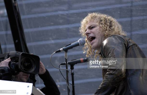 David Bryan of Bon Jovi during Bon Jovi in Concert in Manchester June 4 2006 at City of Manchester Stadium in Manchester United Kingdom