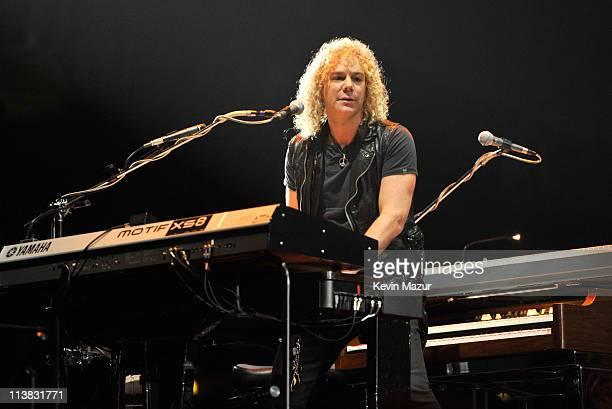 David Bryan of Bon Jovi performs at Nassau Veterans Memorial Coliseum on May 6 2011 in Uniondale New York