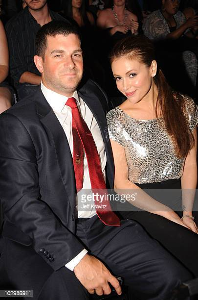 David Bugliari and actress Alyssa Milano attend the 2010 VH1 Do Something Awards held at the Hollywood Palladium on July 19 2010 in Hollywood...