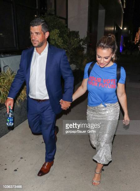 David Bugliari and Alyssa Milano are seen on September 19 2018 in Los Angeles California