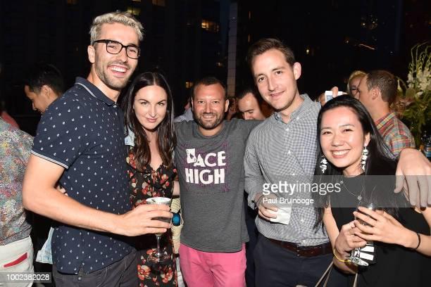 David Burke Sarah Uidel Josh Beckerman Harry Jenkins and Asako Mikumo attend Brian Feit's 40th Birthday Party at 550 West 29th Street on July 19 2018...