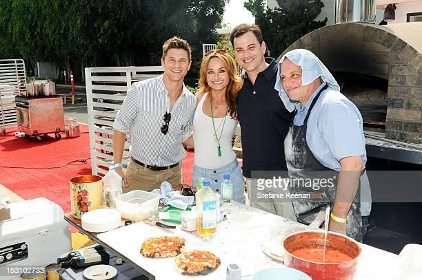 David Burkta Giada De Laurentiis Jimmy Kimmel and Chris Bianco attend LA Loves Alex's Lemonade At Culver Studios at Culver Studios on September 29...