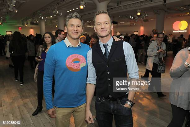 David Burtka and actor Neil Patrick Harris attend a MasterCard exclusive event Variety presents Broadway Tastes hosted by Neil Patrick Harris and...