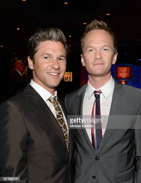 David Burtka and actor Neil Patrick Harris attend the 20th Annual Race To Erase MS Gala 'Love To Erase MS' at the Hyatt Regency Century Plaza on May...