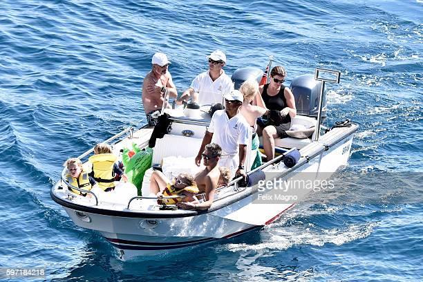 David Burtka and David Furnish are seenon August 27 2016 in Portofino Italy