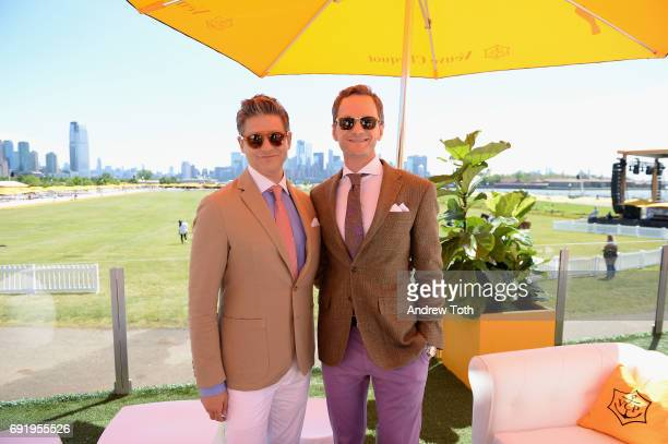 David Burtka and host and actor Neil Patrick Harris attend The Tenth Annual Veuve Clicquot Polo Classic at Liberty State Park on June 3 2017 in...