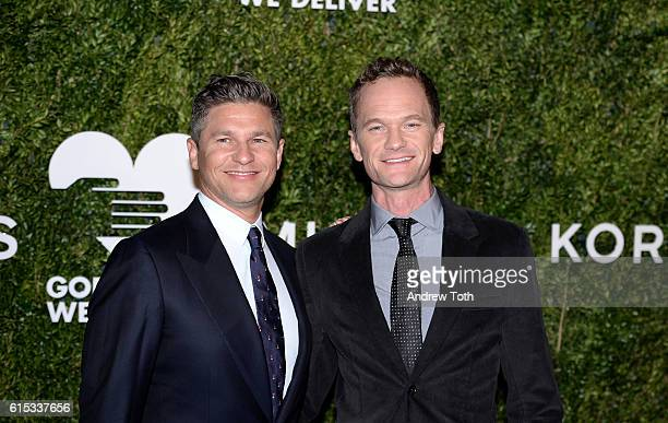David Burtka and Neil Patrick Harris attend the 2016 God's Love We Deliver Golden Heart Awards dinner at Spring Studios on October 17 2016 in New...
