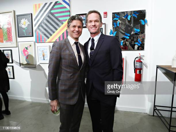 David Burtka and Neil Patrick Harris attend the 2019 Chefs For Kids' Cancer at Metropolitan Pavilion Metro West on March 12 2019 in New York City