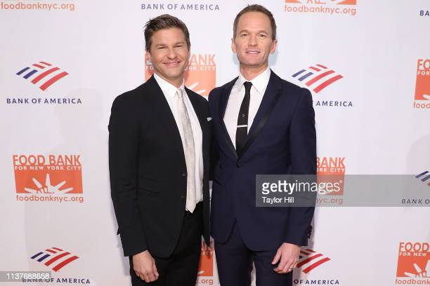 David Burtka and Neil Patrick Harris attend the 2019 Food Bank For New York City Can-Do Awards at Cipriani Wall Street on April 16, 2019 in New York...