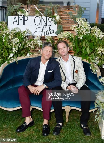 David Burtka and Neil Patrick Harris attend the Hamptons Magazine And Saks Fifth Avenue Celebration of Cover Stars Neil Patrick Harris And David...