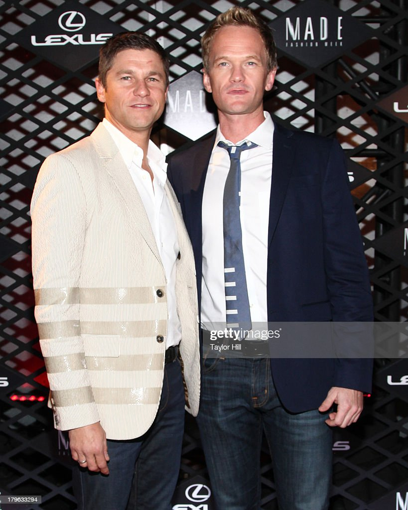 David Burtka and Neil Patrick Harris attend the Lexus Design Disrupted Fashion Event at SIR Stage 37 on September 5, 2013 in New York City.