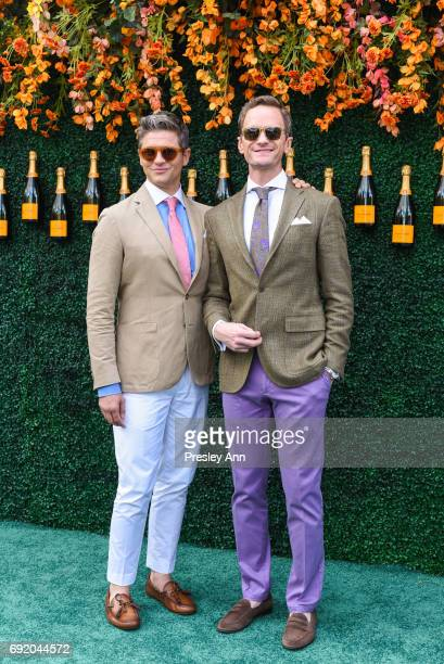 David Burtka and Neil Patrick Harris attend The Tenth Annual Veuve Clicquot Polo Classic Arrivals at Liberty State Park on June 3 2017 in Jersey City...
