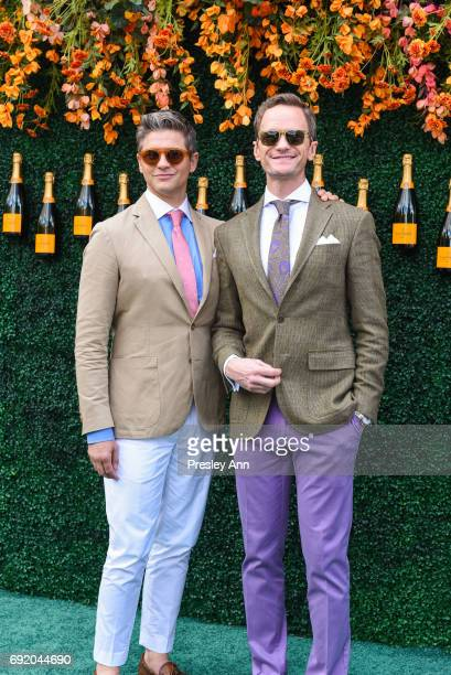 David Burtka and Neil Patrick Harris attend The Tenth Annual Veuve Clicquot Polo Classic - Arrivals at Liberty State Park on June 3, 2017 in Jersey...