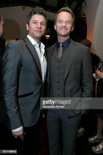 David Burtka and Neil Patrick Harris attend the Warner Music Group 2013 Grammy Celebration Presented By Mini at Chateau Marmont on February 10 2013...