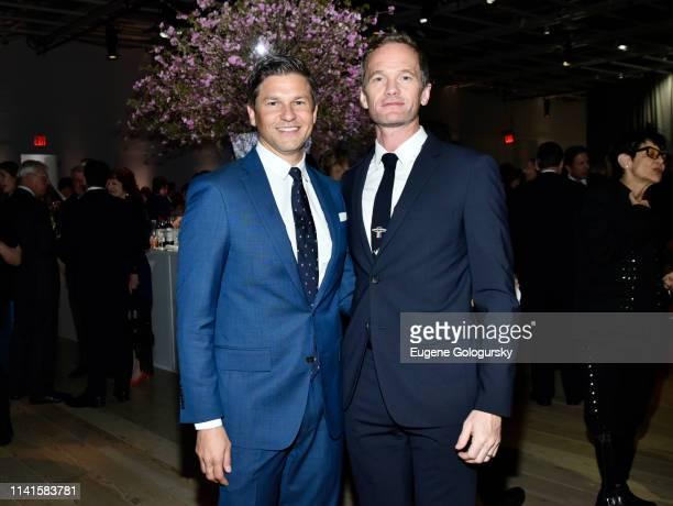 David Burtka and Neil Patrick Harris attend the Whitney Museum Of American Art Gala Studio Party at The Whitney Museum of American Art on April 09...