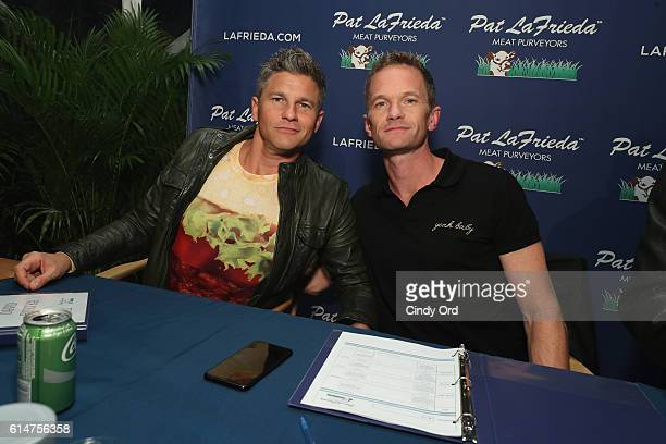 David Burtka and Neil Patrick Harris judge the Blue Moon Burger Bash presented by Pat LaFrieda Meats hosted by Rachael Ray at the Food Network...