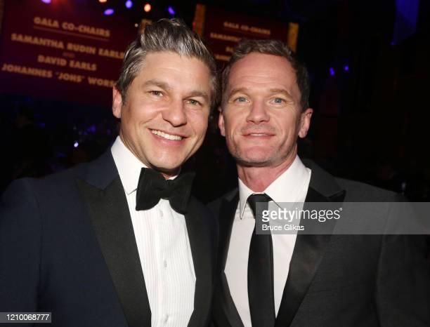 David Burtka and Neil Patrick Harris pose at the 2020 Roundabout Theater Gala honoring Alan Cumming, Michael Kors & Lance LePere at The Ziegfeld...
