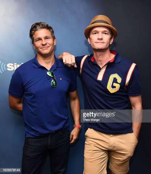David Burtka and Neil Patrick Harris visit SiriusXM Studios on August 29 2018 in New York City