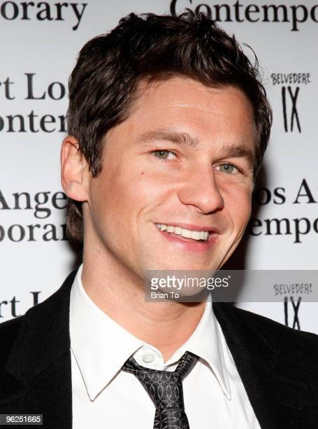 David Burtka arrives at Art Los Angeles Contemporary Art Fair at Pacific Design Center on January 28 2010 in West Hollywood California