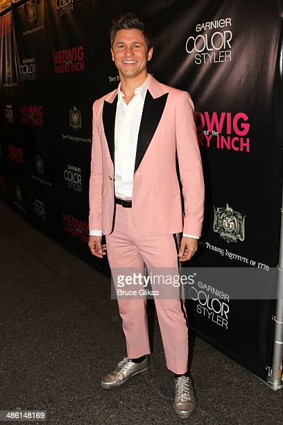 David Burtka attends the Broadway opening night of 'Hedwig And The Angry Inch' at The Belasco Theatre on April 22 2014 in New York City