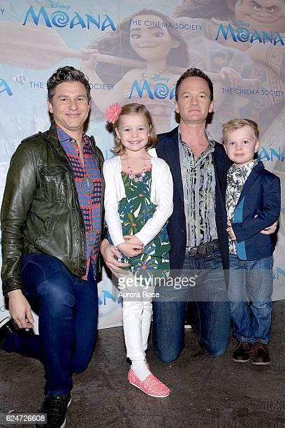 David Burtka, Harper Grace Burtka-Harris, Neil Patrick Harris and Gideon Scott Burtka-Harris attend Disney & The Cinema Society Host a Special...