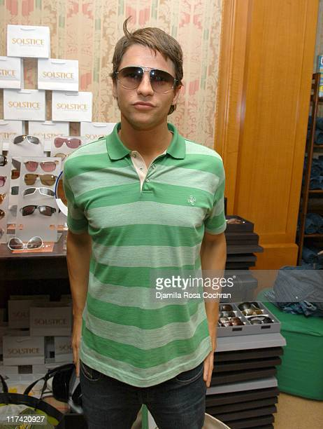 David Burtka wearing Gucci 1772S Sunglasses during Solstice Sunglass Boutique at the Lucky/Cargo Club Day 3 at Ritz Carlton in New York City New York...
