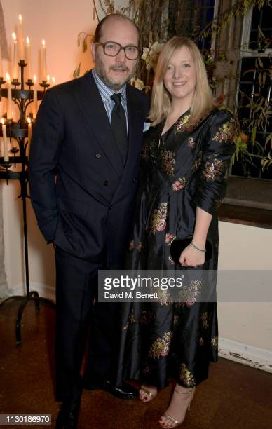 David Burton and Sarah Burton attend the FrancoisHenri Pinault and Sarah Burton dinner In celebration of the Alexander McQueen Old Bond Street...