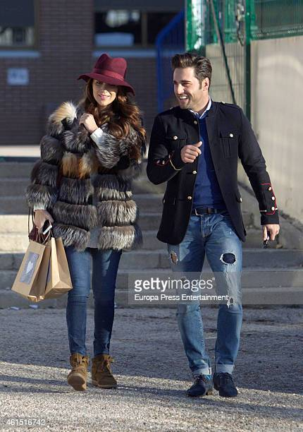 David Bustamante and Paula Echevarria are seen on December 18 2014 in Madrid Spain