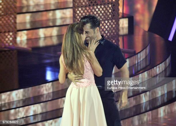 David Bustamante and Yana Olina during 'Bailando con las estrellas' TVE programme on June 19 2018 in Barcelona Spain