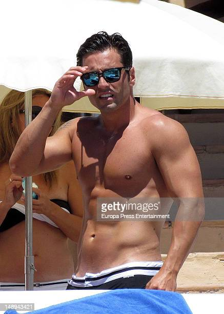 David Bustamante is seen on the beach on July 19 2012 in Ibiza Spain