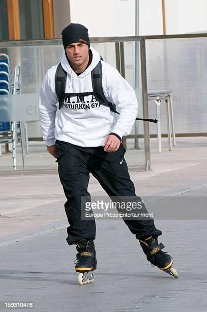 David Bustamante is seen rolling skates on December 25 2012 in Oviedo Spain